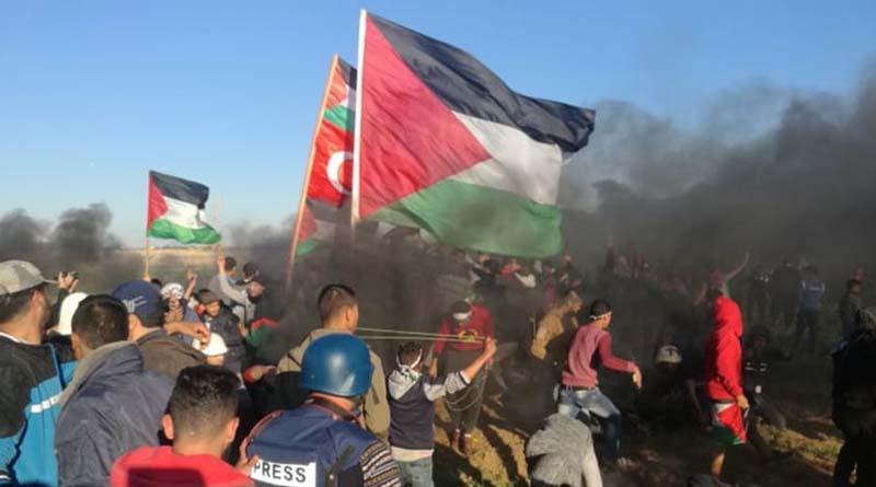 Terör Rejimi İsrail, Büyük Dönüş Yürüyüşü Gösterilerine Ateş Açtı: 2 Şehid, 55 Yaralı