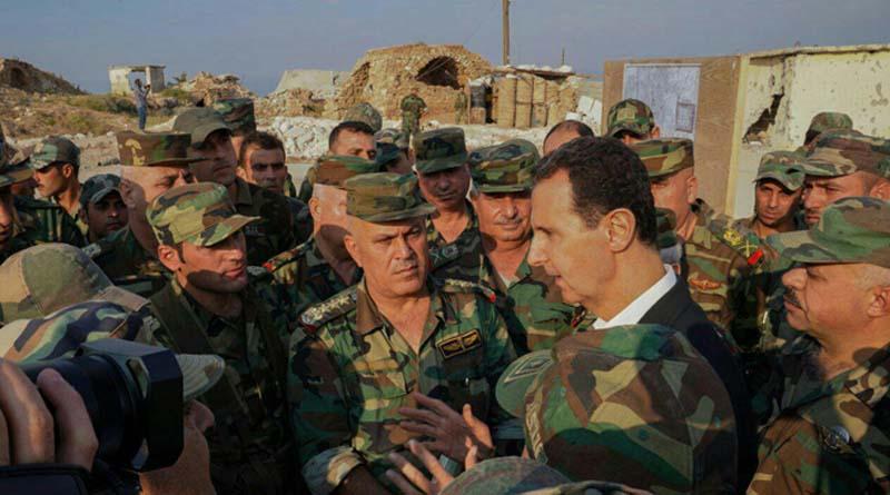 Beşar Esad'dan Cephe Hattına Sürpriz Ziyaret!