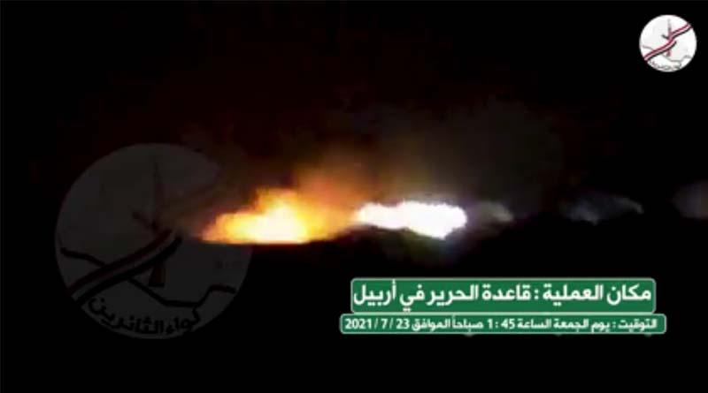 Video – Irak Liva el-Sairun Hareketi'nden ABD üssüne İHA'lı saldırı!