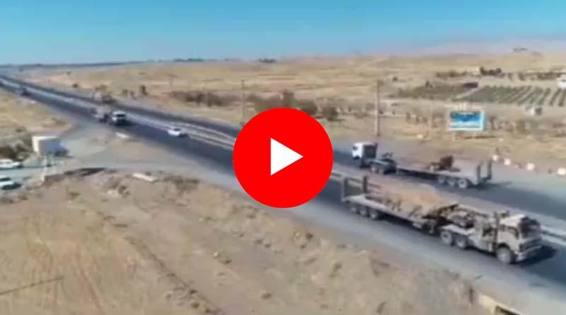 VİDEO – İran Devrim Muhafızları'ndan Karabağ sınırına askeri sevkiyat!