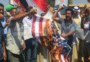 Suriye'nin direnişçi halkı, Büyük Şeytan ABD'nin bayrağını ateşe verdi